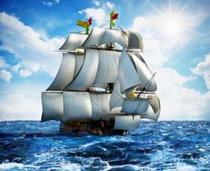 ship sailing on the ocean