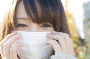 Japanese girl wearing a mask